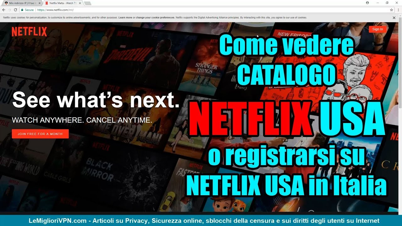 Come registrarsi al catalogo Netflix USA in Italia o altre
