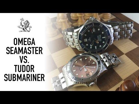 "Duel Of The 90s Iconic Luxury Swiss Dive Watches - Tudor Submariner Vs Omega ""James Bond"" Seamaster"