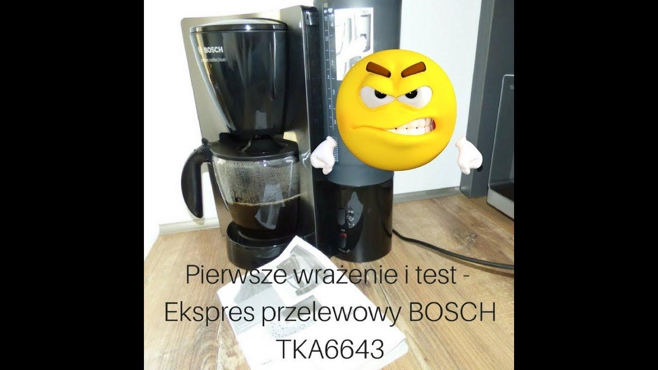Pierwsze wrażenie i test - ekspres przelewowy BOSCH TKA6643