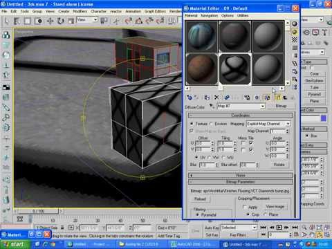 3ds max 7 basics for students lecture 14 import CAD to max & texture assigning in Urdu/hindi