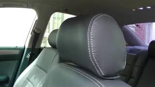 Авточехлы из экокожи для Ауди А6  Установка