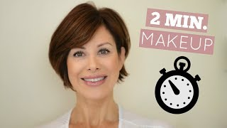 Out The Door In 2 Minutes Makeup Routine!