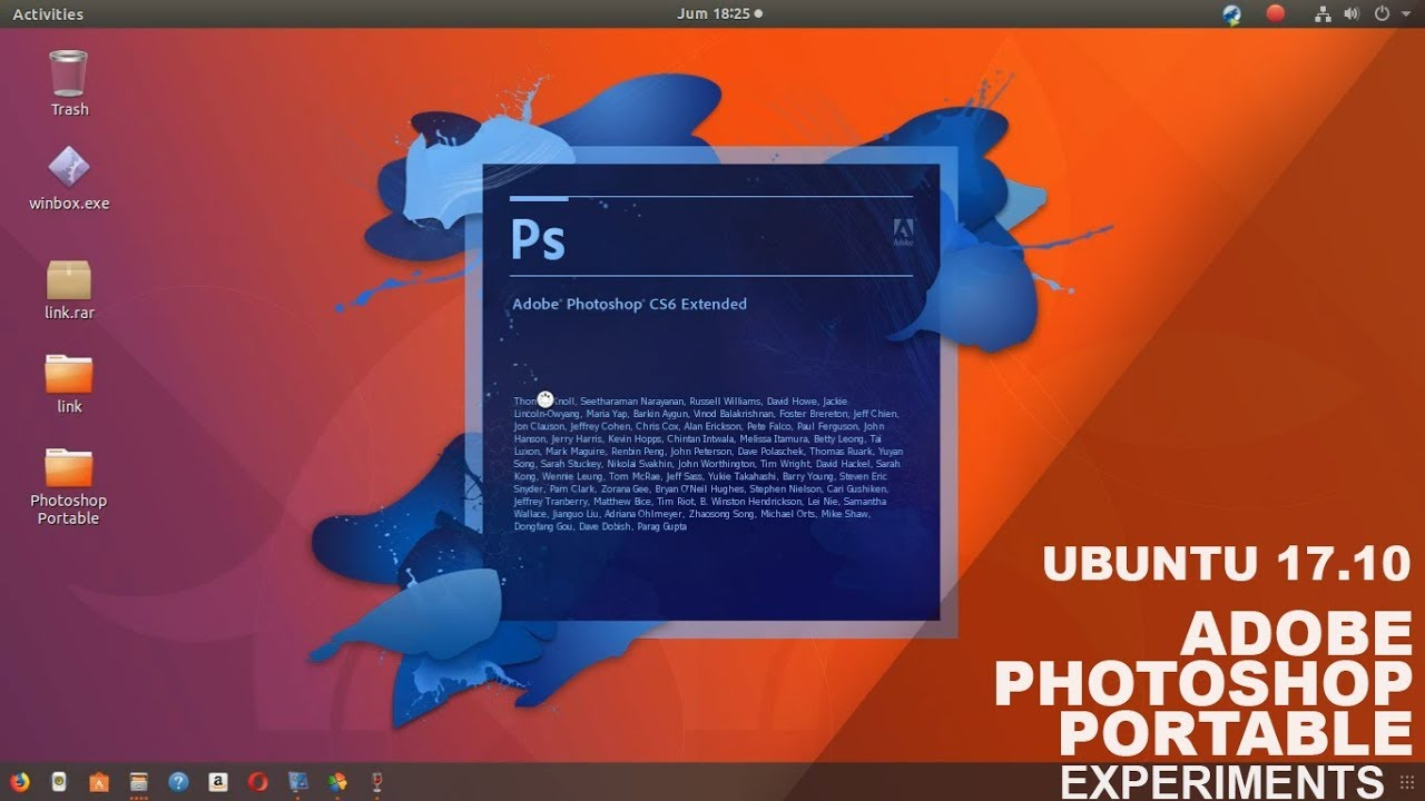 Portable Photoshop Install Photoshop Portable On Ubuntu 17 10 Experiment