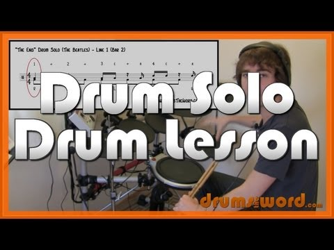 ★ The End (The Beatles) ★ Drum Lesson | How To Play Drum Solo (Ringo Starr)