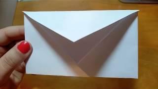 видео урок как сделать конверт