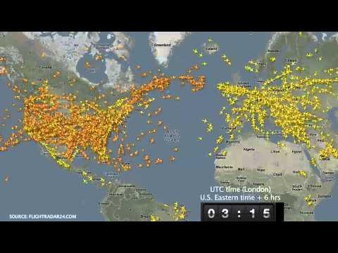 24 Hours Of Flights In 15 Seconds