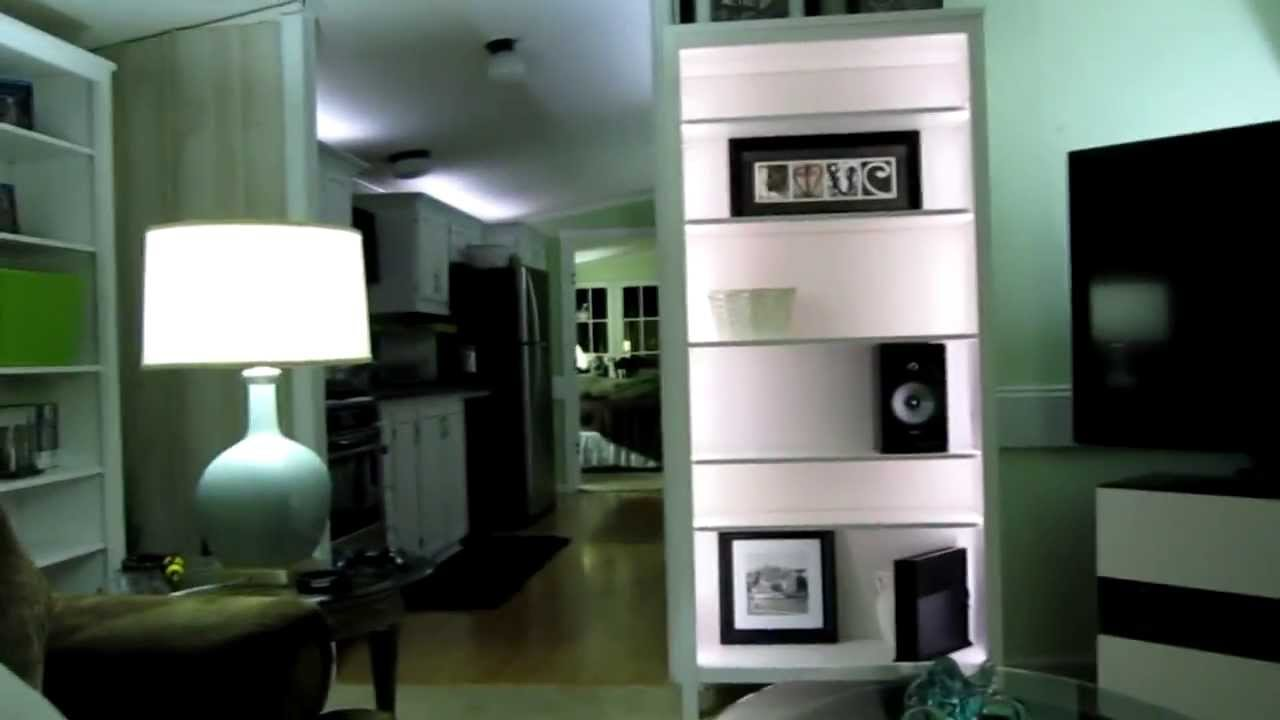 Philips Hue Light Strips Installed In A Bookcase Youtube