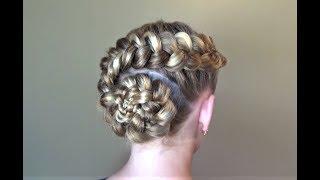 Голландский Цветок Причёска с плетением. Peinado Dutch Flower Hairstyle