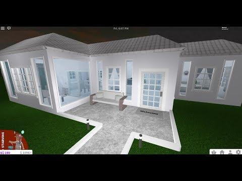 Bloxburg House Ideas Roblox One Floor Bloxburg 14k House Speed Build Youtube
