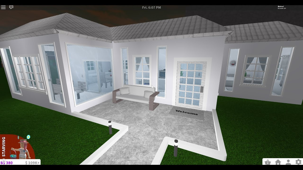 Bloxburg 14k house speed build youtube for Cheapest 2 story house to build