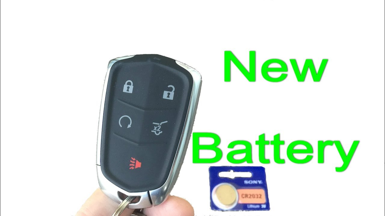 Key Fob Replacement >> Cadillac Key Fob Dead Battery Replacement On Keyless Remote 2014 2018