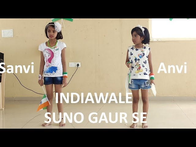 INDIAWALE | SUNO GAUR SE | Dance perforance by Anvi and Sanvi