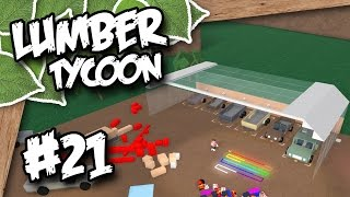 Lumber Tycoon 2 #21 - HUGE GLASS GARAGE (Roblox Lumber Tycoon)