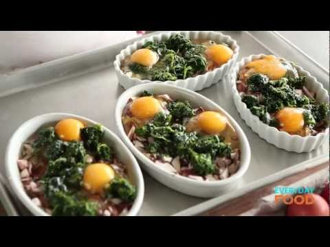 Eggs with Mushrooms and Spinach | Everyday Food with Sarah Carey