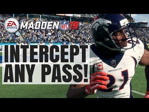 How To Intercept Any Pass In Madden 18 (User Defending 2.0)