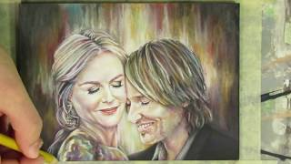 Nicole Kidman & Keith Urban - Time Lapse Drawing