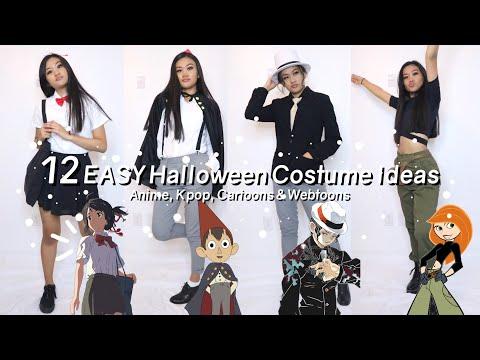 12 Easy Halloween Costume Ideas Anime Cartoons Kpop Webtoon Youtube