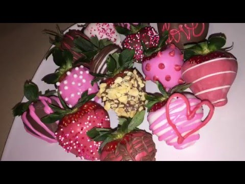 DIY Valentine's Chocolate Covered Strawberries