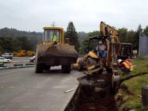 Construction Erosion Inspection Trench Excavation Asphalt Kept Clean
