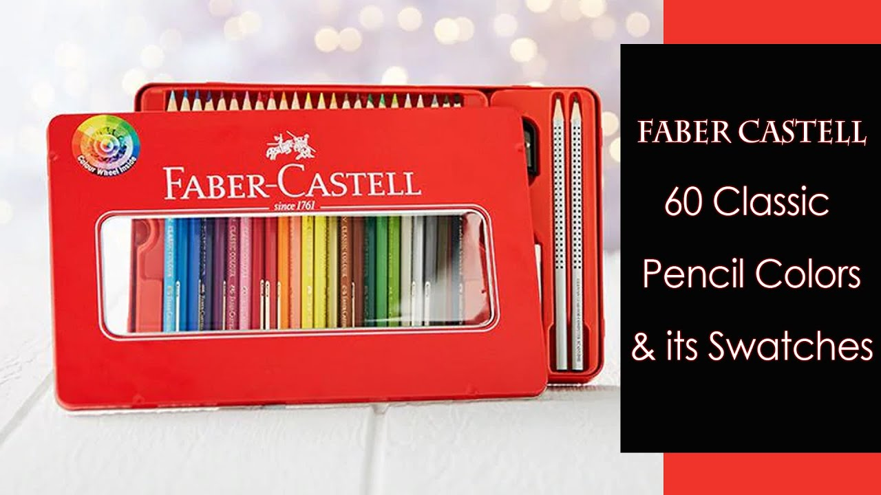 faber castell 60 classic pencil colors its swatches product review art box