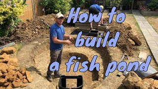 How to build a pond - fish pond uk - how to make a pond