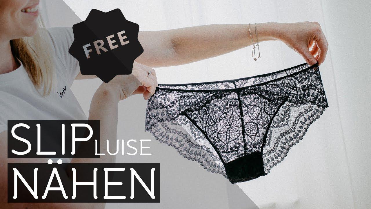 Slip Nähen - kostenloses Schnittmuster Luise für Anfänger