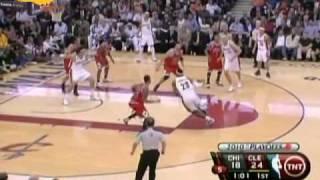 LeBron James posters James Johnson Cavs vs Bulls 4-19-2010 LeBron dunks on James Johnson