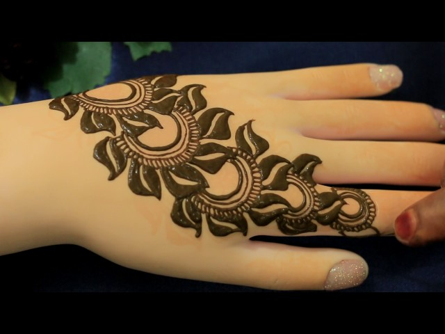 Flower Mehndi Designs For Back Hands : Easy mehndi designs with video tutorials