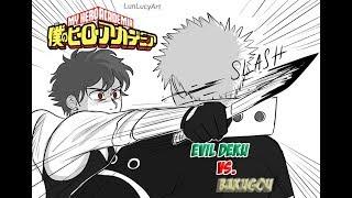 "My Hero Academia - ""Villain Deku vs  Bakugou"" Fan dub"