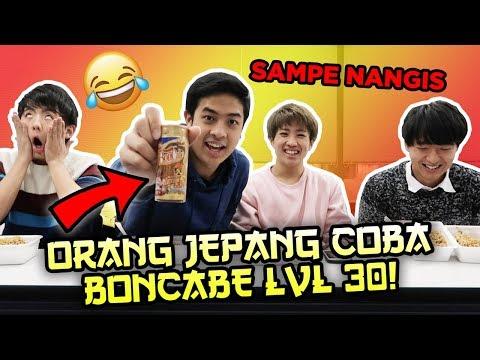REAKSI ORANG JEPANG COBAIN BONCABE LEVEL 30! LOMBA MAKAN! ペヤングとインドネシア辛子早食い対決