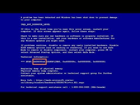 Как с помощью дампа памяти определить и устранить причину, вызывающую BSoD (синий экран смерти)
