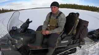 Весенняя рыбалка по последнему льду на водохранилище Spring fishing on the last ice