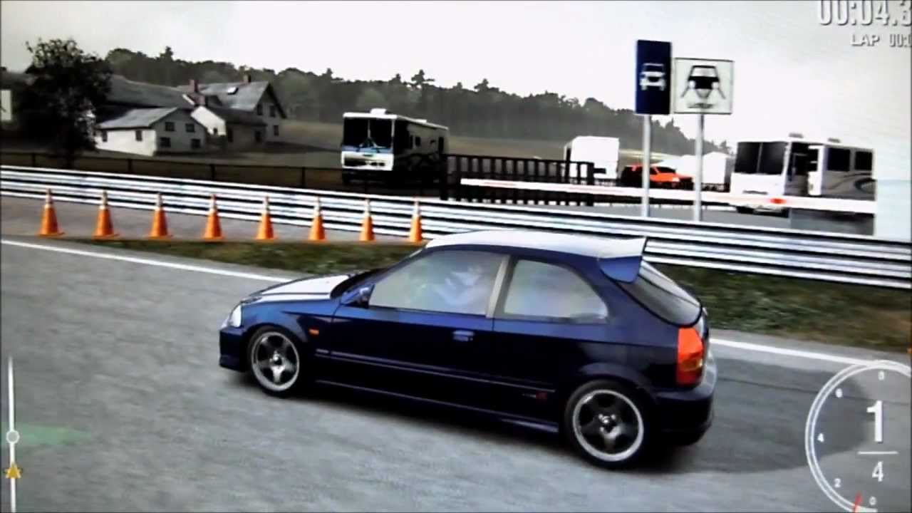 Forza 4 Honda Civic Pimped Out Nurburgring Youtube