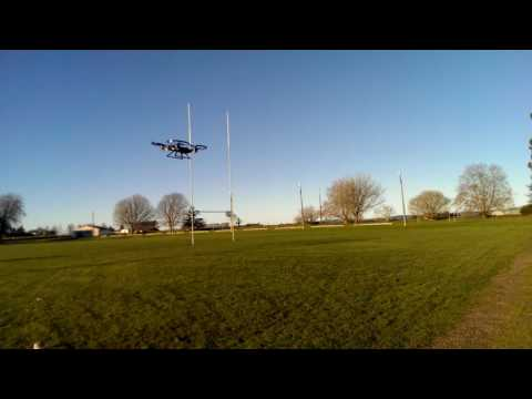 First quadcopter flight.  No practice.