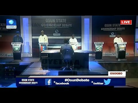 Osun Debate Pt.1 : Governorship Candidates Give Reasons For Ambition