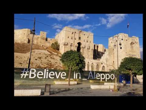 Inside the Aleppo Citadel in October 2017