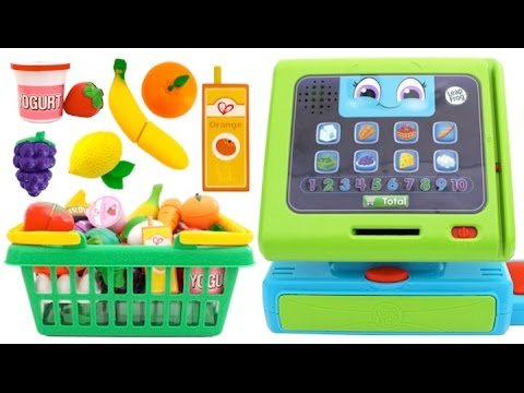 Cash Register Toy Pretend Play Food Market Play Doh Surprise Eggs Toys RL
