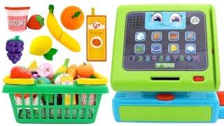 Cash Register Toy Pretend Play Food Market Play Doh Surprise Eggs Toys RL