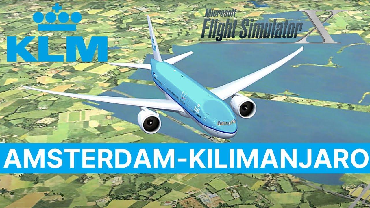 [FSX] KLM flight 571 | KLM571/KL571 | EHAM (Amsterdam Schiphol Intl) to HTKJ (Kilimanjaro Intl)