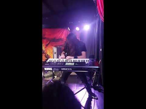 FIREWIND - Bob Katsionis solo on keyboard - live in Rome Jailbreak live club 27.10.2017