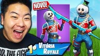 I BOUGHT THE NEW SKIN OF THE SNOWMAN AND IRRITED ME WITH THE SWORD!! -Fortnite Battle Royale