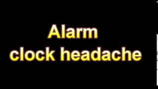 What Is The Definition Of Alarm clock headache (Medical Dictionary Online)