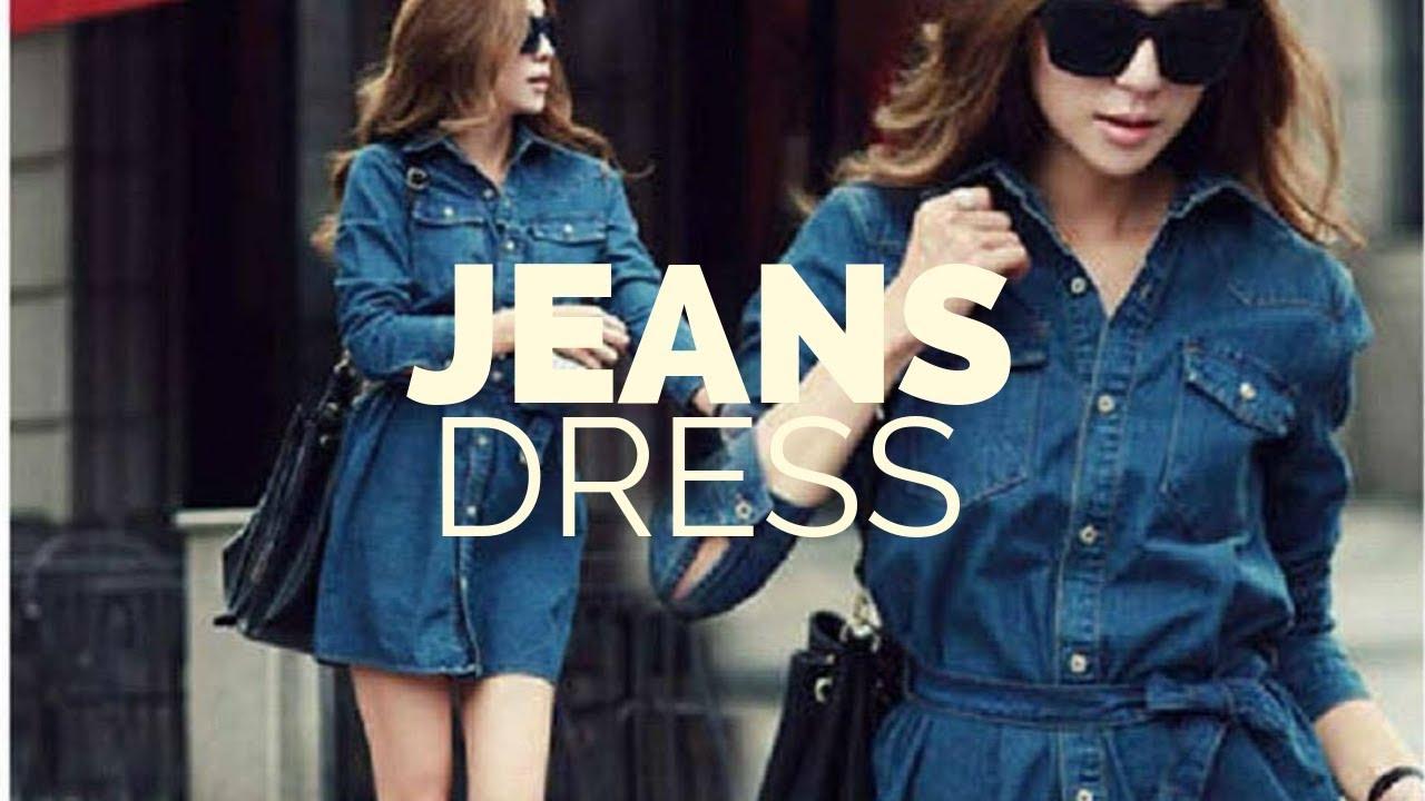 Latest Jeans dresses for ladies   designer levis Denim dress patterns 1