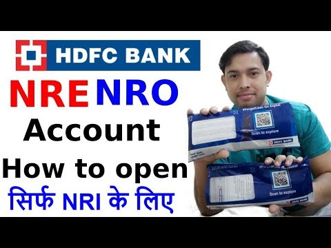 How To Open NRE /NRO  Account In HDFC Bank || What Is Nri/nro Account