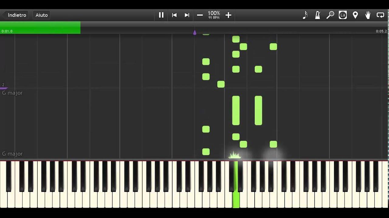 marimba ringtone piano sheet music