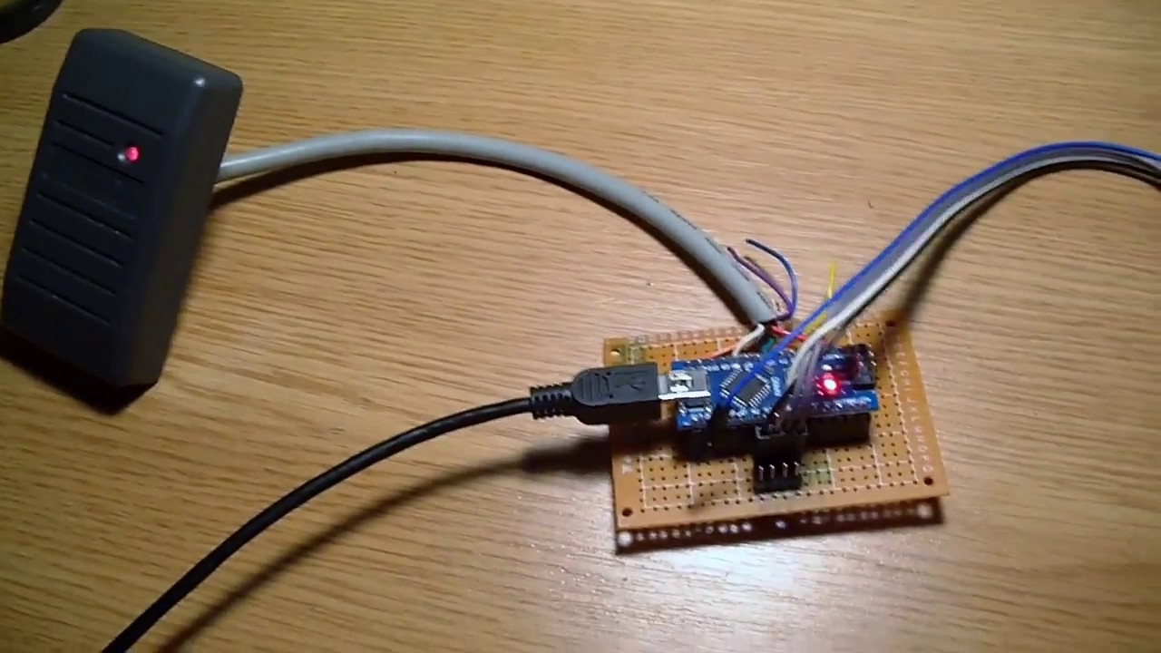 HID card reader & Arduino Hid Reader Wiring on