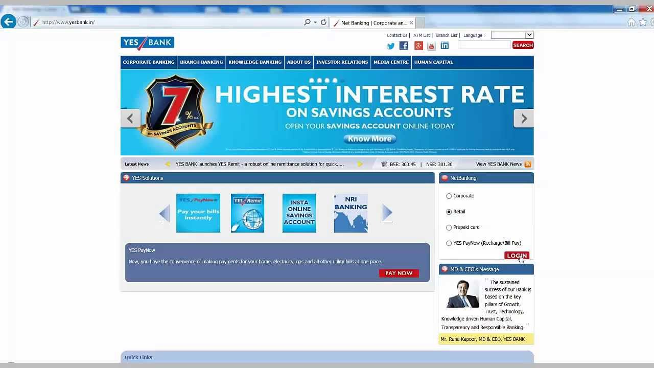 Yes Bank Home Loan Career In How To Login To Yes Bank