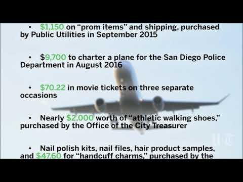 Database shows 56,000 San Diego city charge card purchases