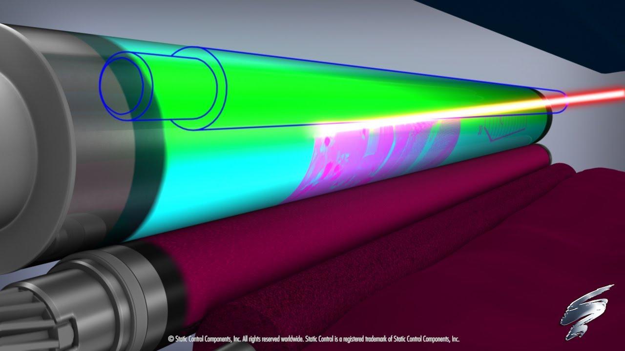 medium resolution of how a color laser printer works inside an hp 2600 toner cartridge youtube