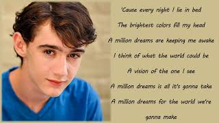 Gambar cover Ziv Zaifman, Hugh Jackman, Michelle Williams - A Million Dreams (Lyrics & Pictures)